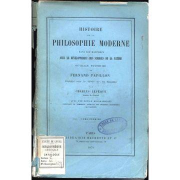 Histoire de la philosophie moderne dans ses rapports avec le developpement des sciences de la Nature (1876)