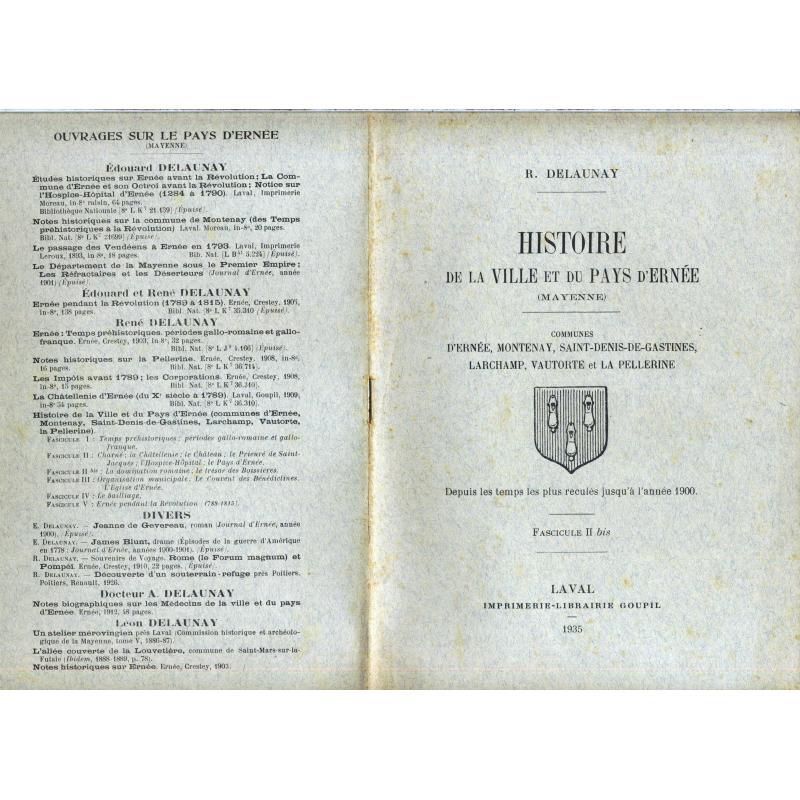 Histoire de la ville et du pays d'Ernée fascicule II bis