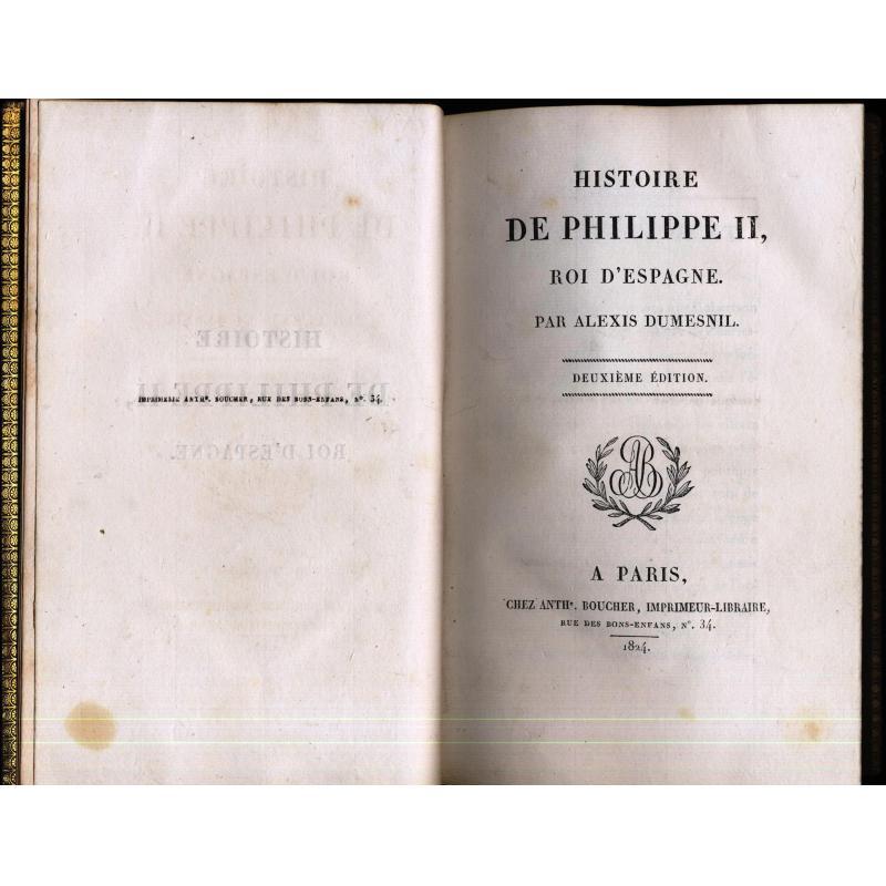 Histoire de Philippe II, roi d'Espagne