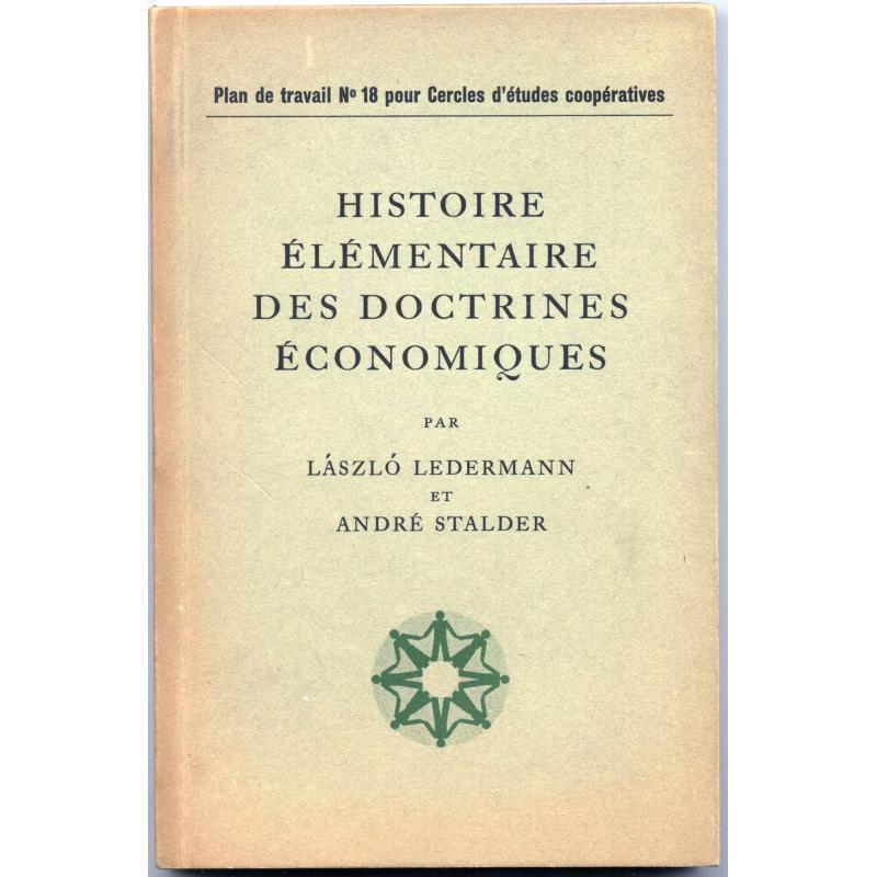 Histoire élémentaire des doctrines économiques