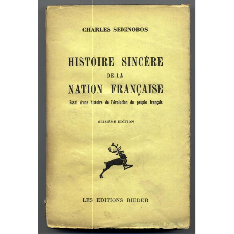 Histoire sincere de la nation française avec ex-libris de Michel Debré