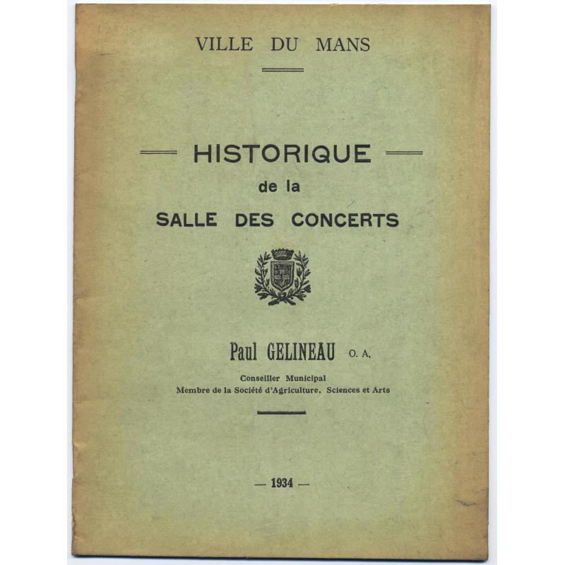 Historique de la salle des concerts de la ville du Mans
