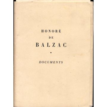Honore de Balzac - Documents