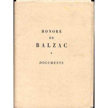 Honore de Balzac - Documents