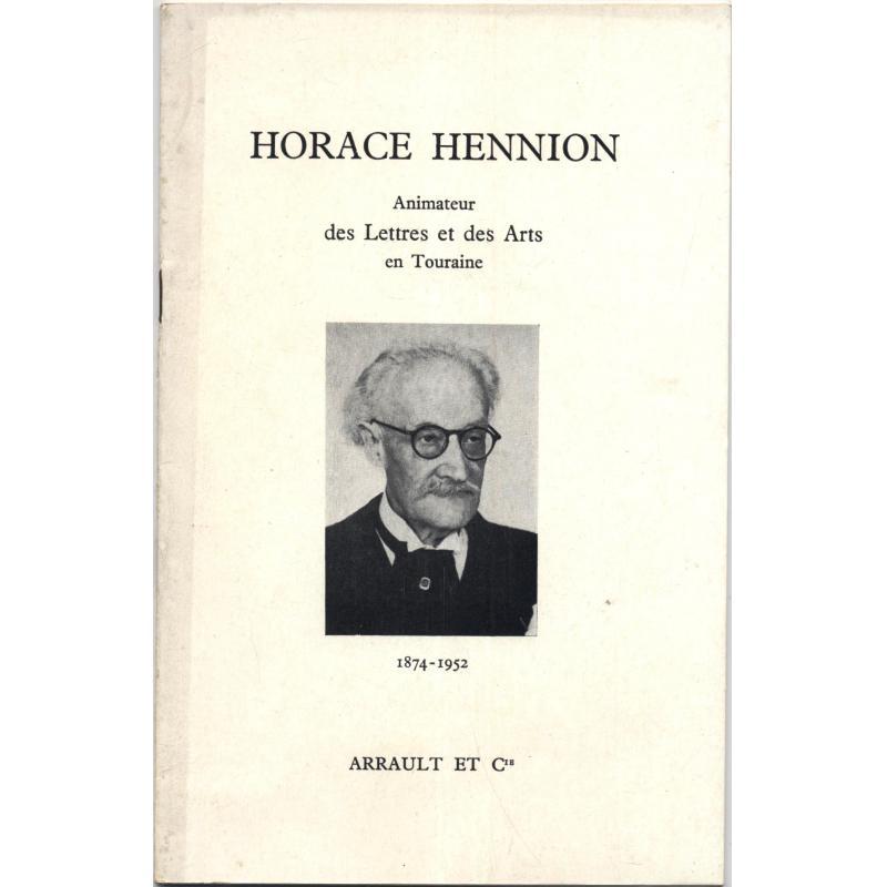 Horace Hennion hommages et souvenirs 1874 1952