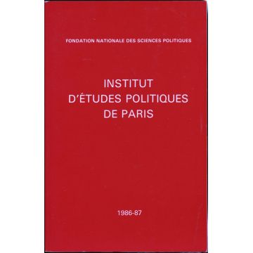 Institut d'etudes politiques de Paris 1986-87