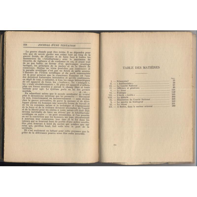 Journal d'une tentation signé de MICHEL DEBRE