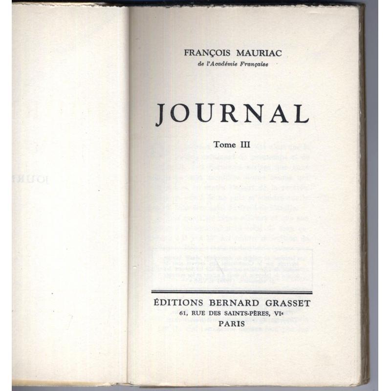 Journal tome 3 edition canadienne (avec catalogue canadien voir photo)