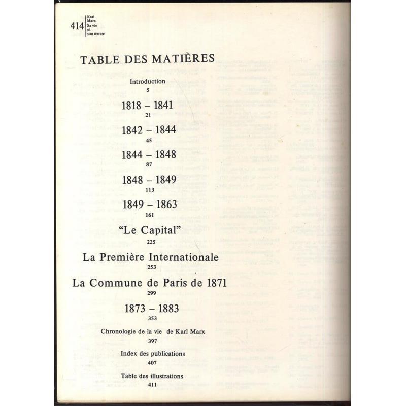 Karl Marx sa vie et son oeuvre