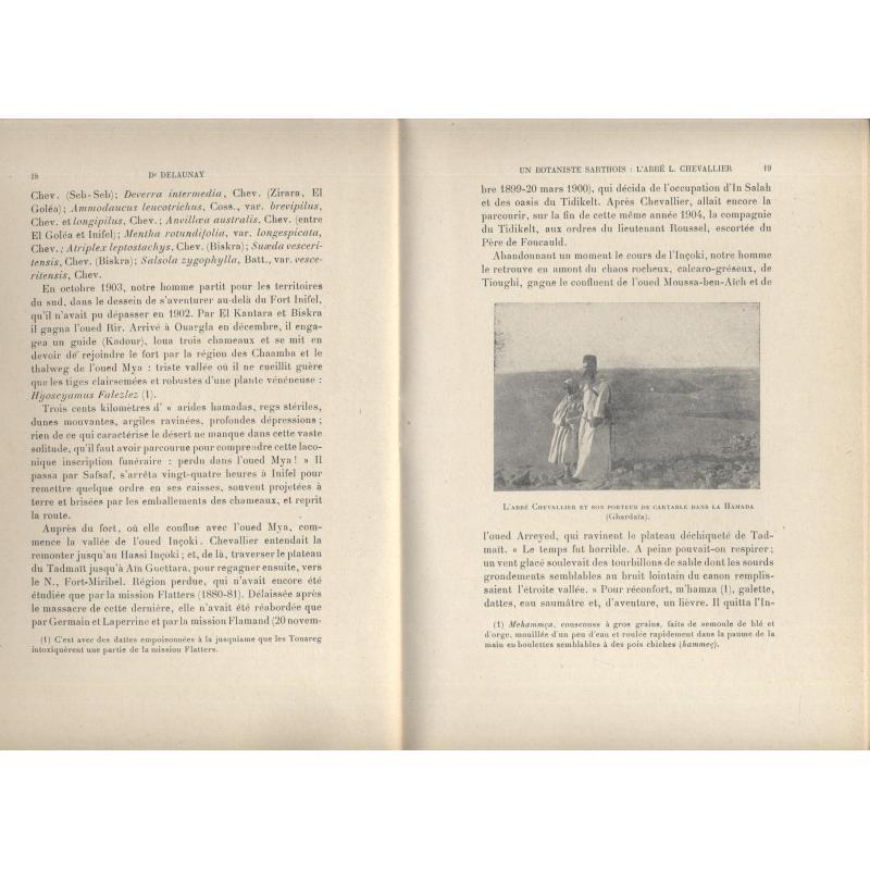 L'abbé Chevallier (1852-1938) un botaniste sarthois explorateur du Sahara