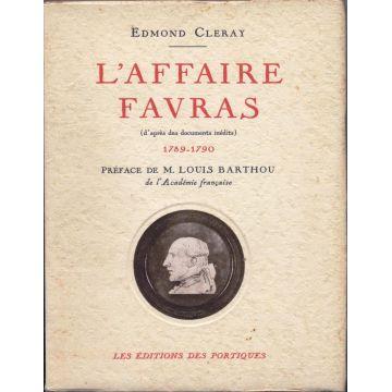 L'Affaire Favras 1789-1790