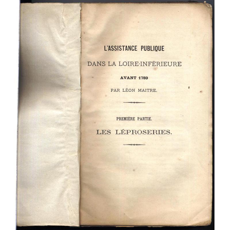 L'assistance publique dans la Loire-Inférieure avant 1789