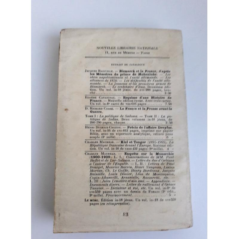L'avant guerre Etudes et documents sur l'espionnage Juif-Allemand en France