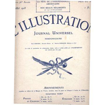 L'Illustration numeros 3931 - 3939 juillet-aout 1918