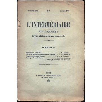 L'intermédiaire de l'Ouest revue bibliographique mensuelle n°4