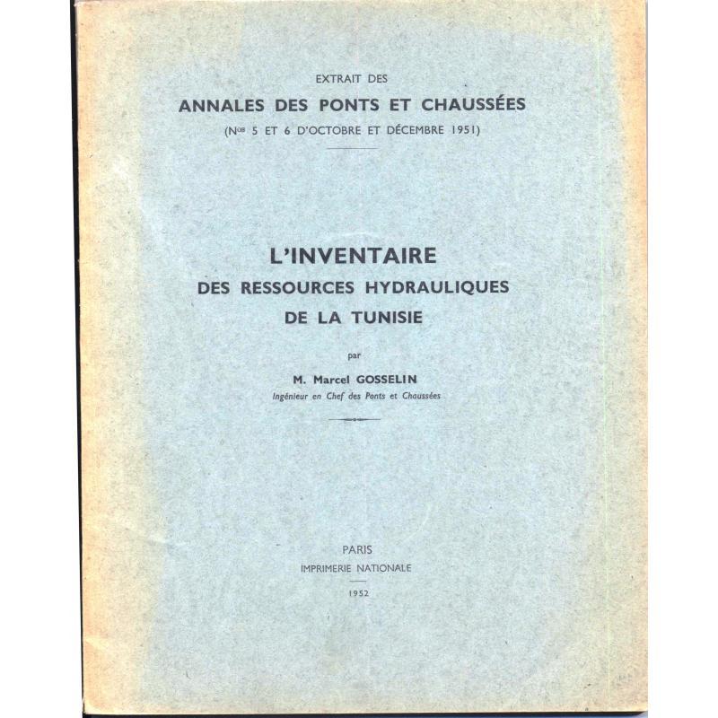 L'Inventaire des ressources hydrauliques de la Tunisie Extrait des Annales Ponts