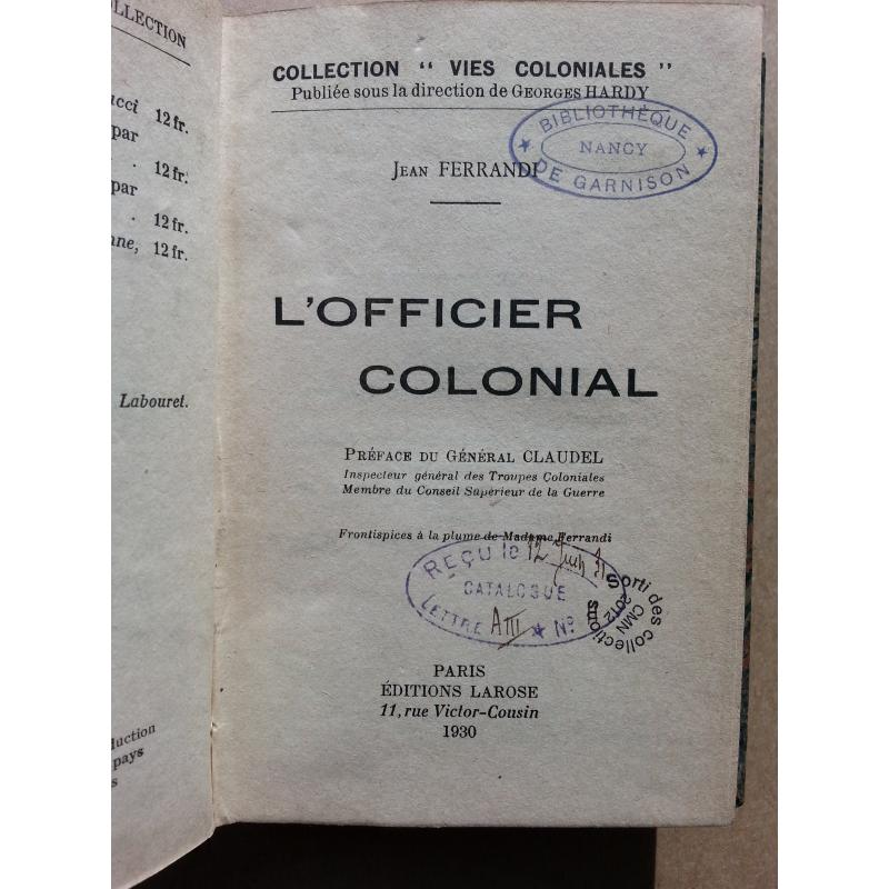 L'officier colonial