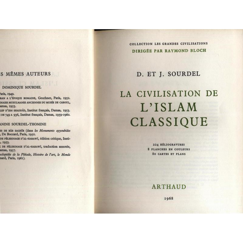La civilisation de l'Islam classique
