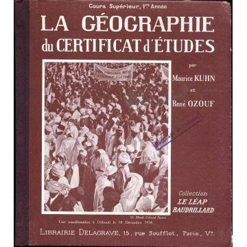 La geographie du certificat d'etudes
