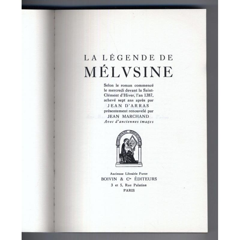 La legende de Melusine illustree de bois tirés du moyen age