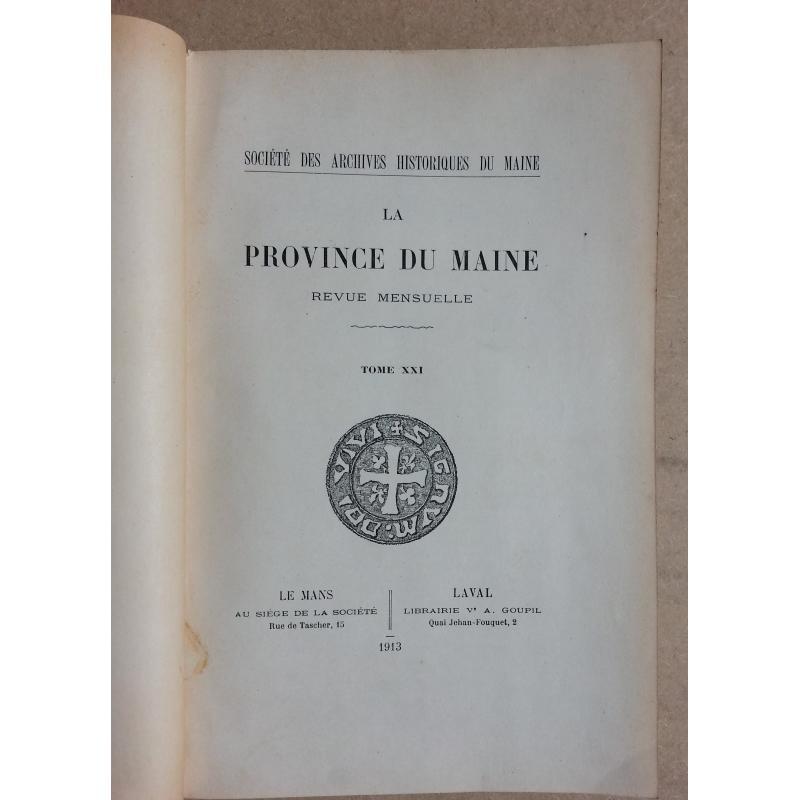 La province du Maine 1912-1914 3 tomes