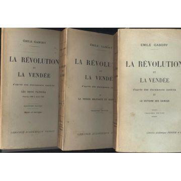 La révolution et la Vendée 3 tomes brochés