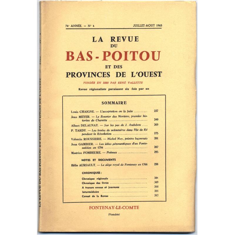 La Revue du Bas-Poitou et des provinces de l'ouest n°1,3,4,5,6 1963