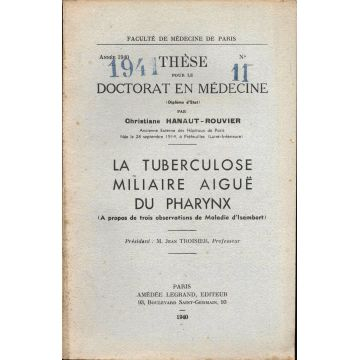 La tuberculose miliaire aigue du pharynx