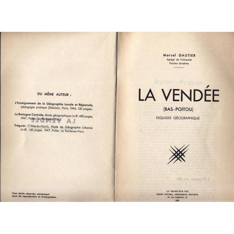 La Vendée (bas-Poitou) esquisse géographique