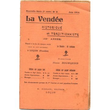 La Vendée historique et traditionniste n°6