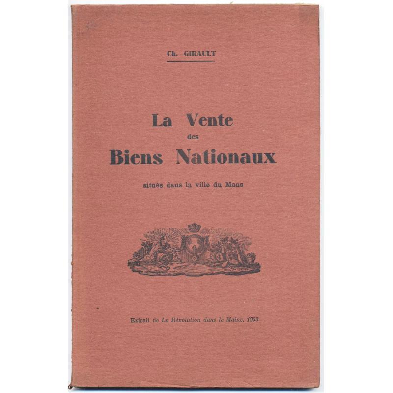 La vente des biens nationaux situés dans la ville du Mans
