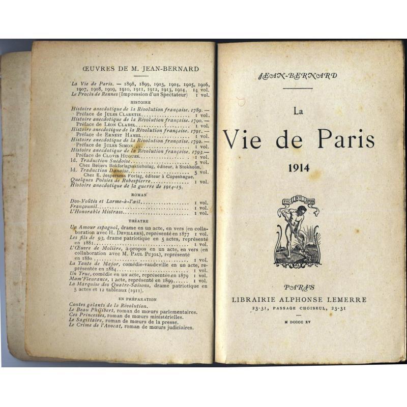 La vie de paris 1914