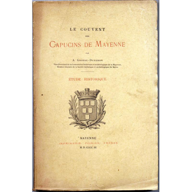 Le couvent des capucins de Mayenne livre numéroté