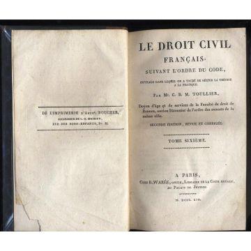 Le droit civil français suivant l'ordre du code, ouvrage dans lequel on a taché