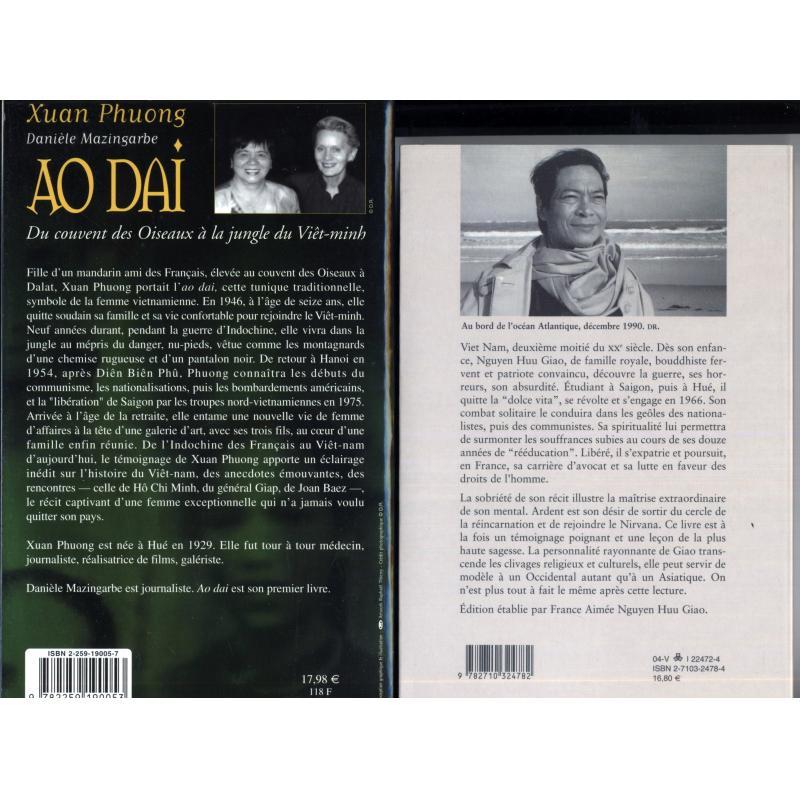 Le livre de Giao + Ao Dai 2 livres sur l'Indochine et le Vietnam