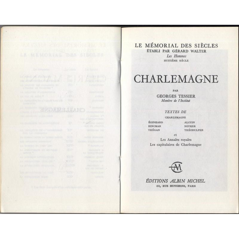 Le memorial des siecles Charlemagne