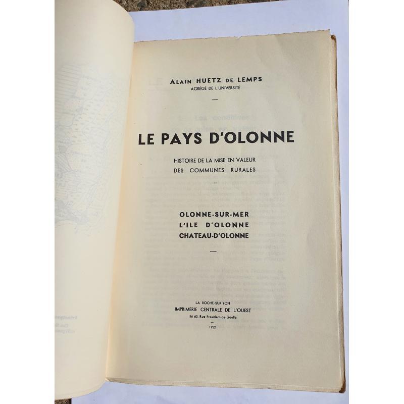Le Pays d'Olonne histoire de la mise en valeur des communes rurales