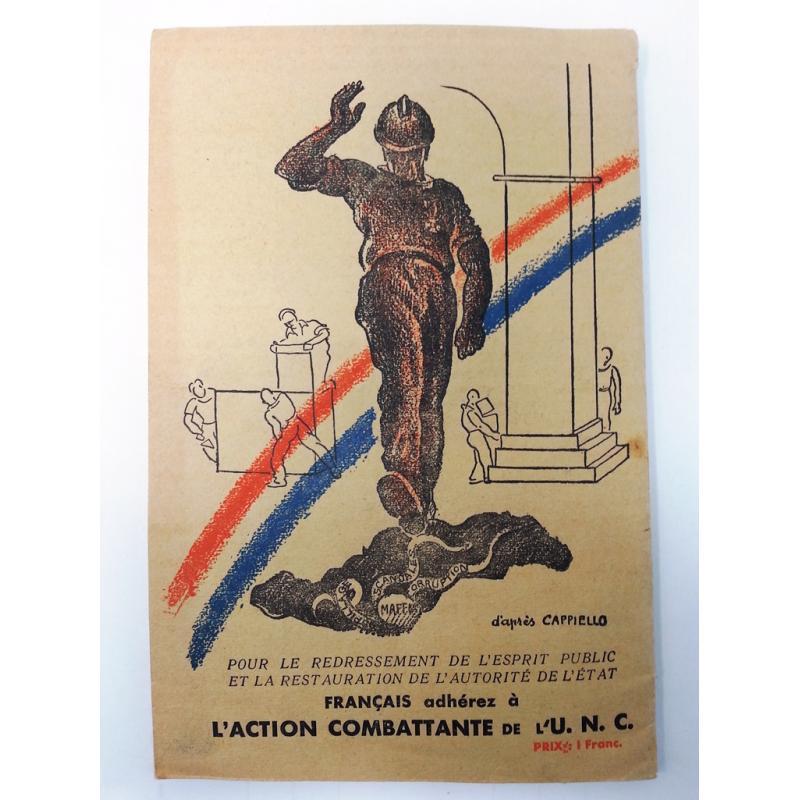 Le Programme d'action civique des anciens combattants UNC 1934