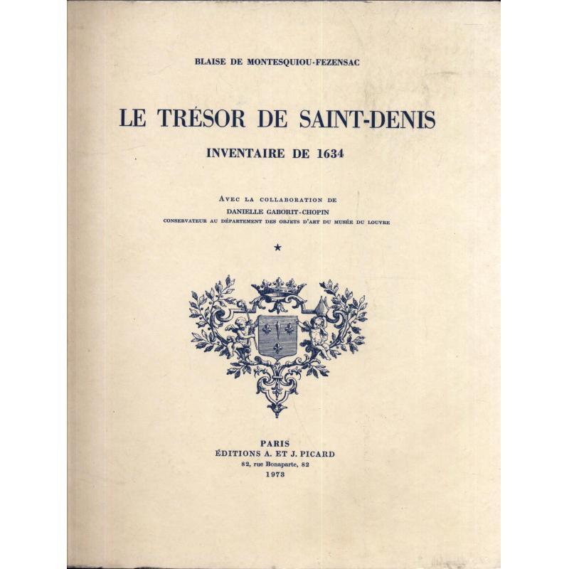 Le trésor de Saint-Denis inventaire de 1634