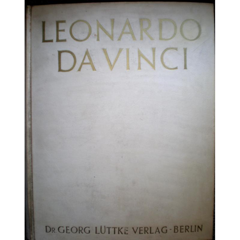 Leonardo da Vinci EN ALLEMAND dédicace a Hermann Röhn