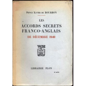 Les accords secrets franco-anglais de decembre 1940