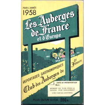 Les auberges de France et d'Europe 1958