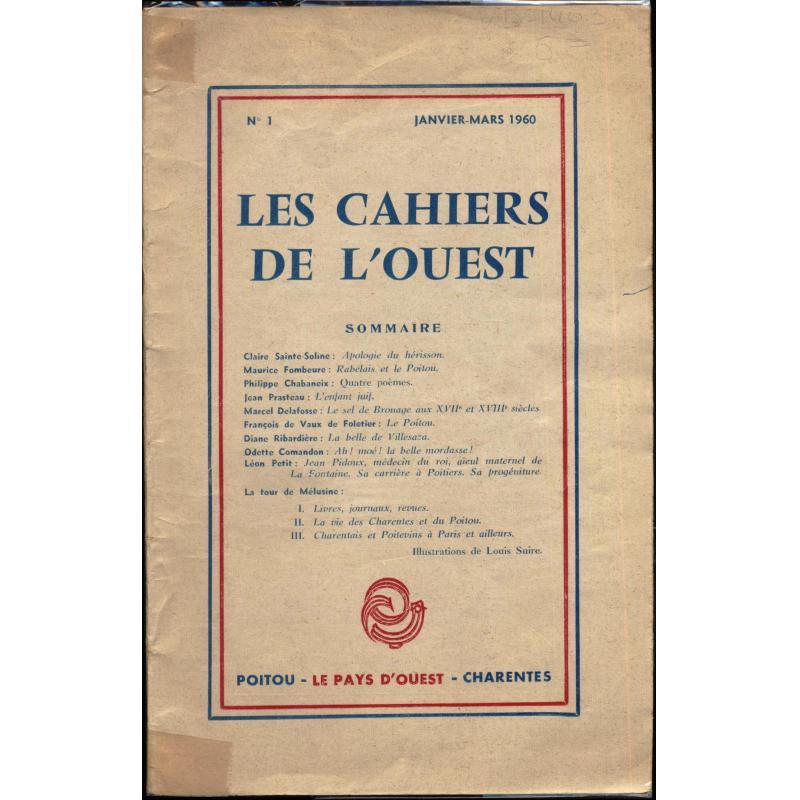Les cahiers de l'ouest n°1  1960
