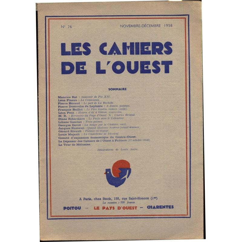 Les cahiers de l'ouest n°26 - 1958