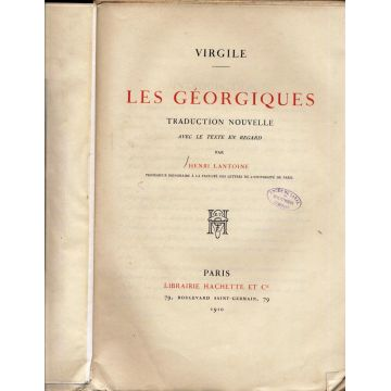 Les Georgiques par Lantoine 1910