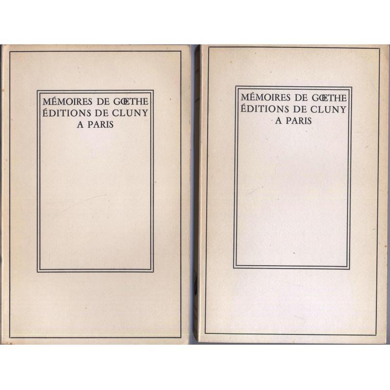 Les mémoires de Goethe 2 tomes