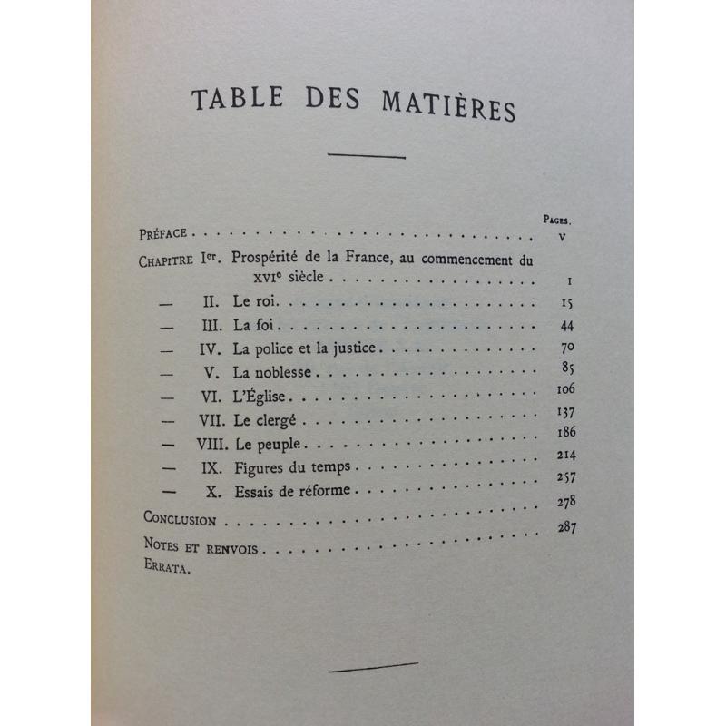 Les origines de la révolution française au commencement du XVIe siècle reprint
