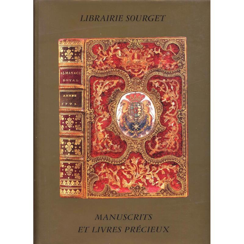Librairie Sourget manuscrits et livres précieux catalogue N° XIX 1999 liste prix