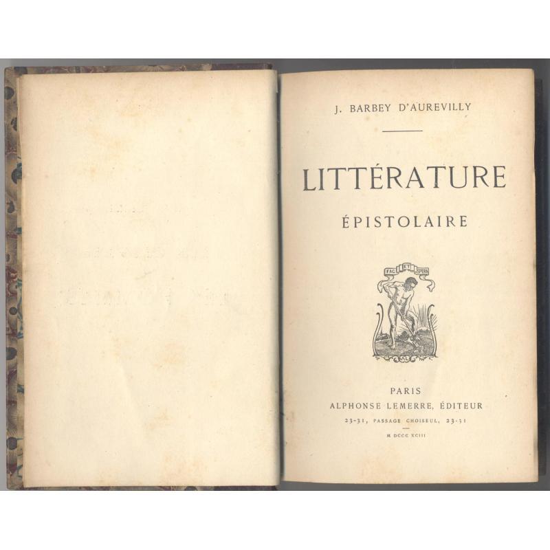 Litterature epistolaire