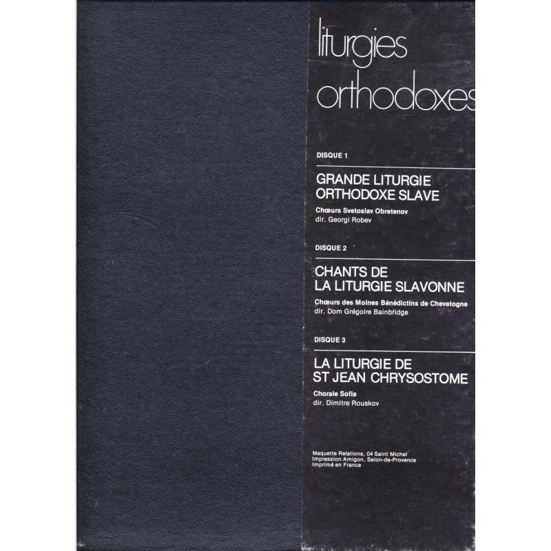 Liturgies orthodoxes Coffret de 3 disques vinyles